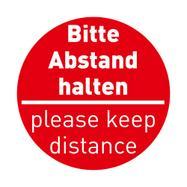 Pegatina para suelo «Mantenga la distancia»