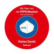 Pegatina para exterior «Llevar mascarilla FFP2»