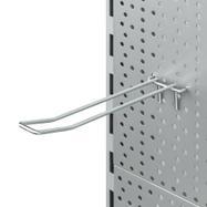 Gancho Doble con soporte para portaprecio para panel perforado