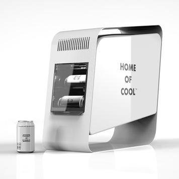 """POS Cooler """"Home of Cool"""", Vitrina refrigerada"""