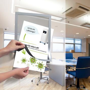Set de carteles DIN A4 para purificador de aire