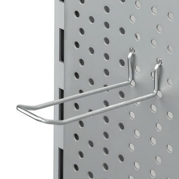 Gancho doble para panel perforado