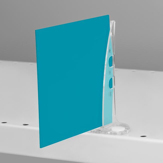 Gripper porta cartel   Para estanterías perforadas