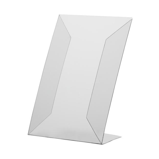 Portacartel en L de PVC rijido