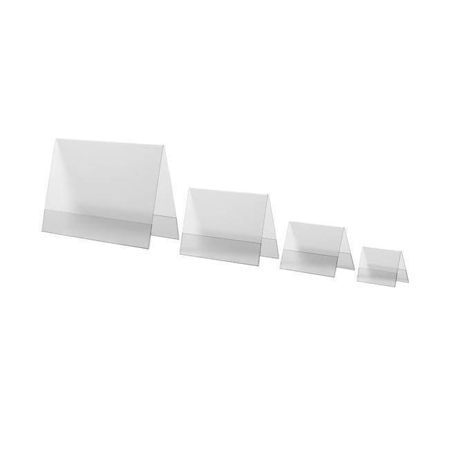 Expositor de PVC rígido en V invertida en formatos DIN