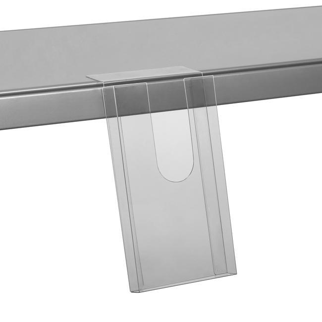Portafolletos adhesivo para estantes 110 x 200 x 20