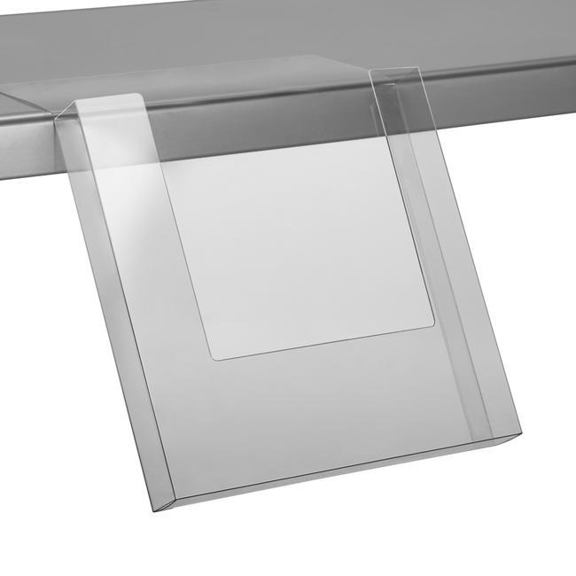 Portafolletos adhesivo para estantes 230 x 230 x 30