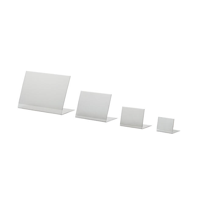 Portacartel en PVC en L, DIN A6 a DIN A8, en formato vertical o horizontal