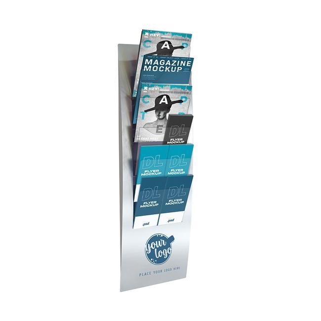 """Portafolletos de pared """"Varia"""" para 6 folletos"""