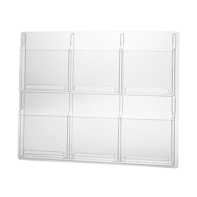 Portafolletos de pared «Delux» para 6 DIN A4