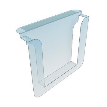 Portafolletos adhesivo para estantes