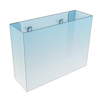Portafolltos con pinzas para estantes de madera o vidrio