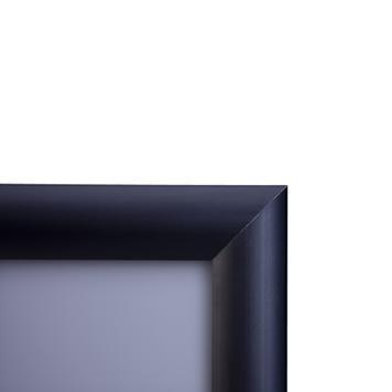 Marco Clic, perfil de 25 mm, anodizado negro, esquinas en inglete