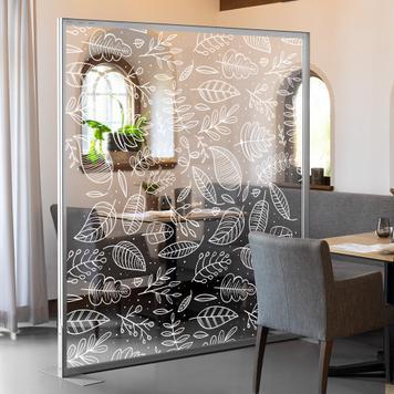 Pancarta transparente con impresión en blanco para marcos extensibles de aluminio
