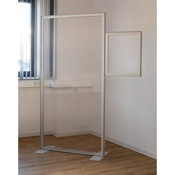 Extensión para pared separadora con marco extensible de aluminio