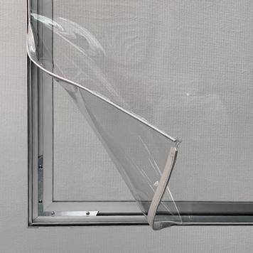 Pared separadora de escritorio «Desk» transparente
